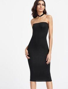 Bandeau Midi Bodycon Dress